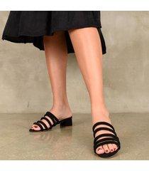 sandalia medium negra para mujer rune
