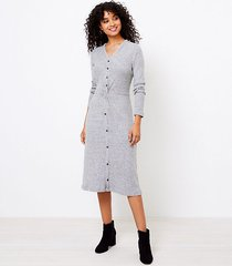 loft knotted button midi dress