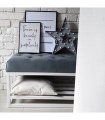 siedzisko ławka loft z półką na buty metalowa