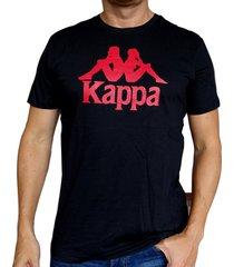 camiseta kappa authentic estessi - negro/rojo
