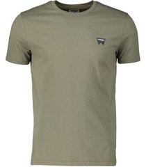 wrangler t-shirt - modern fit - groen