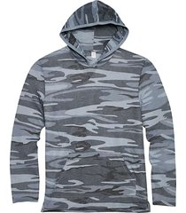 alternative apparel men's medium blue eco jersey hoodie pullover - size: small
