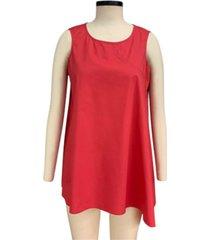 alfani asymmetrical sleeveless tunic, created for macy's