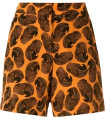 eva arara silk shorts - orange