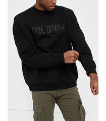 dr denim philly sweater tröjor black