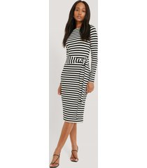na-kd striped jersey dress - black,white