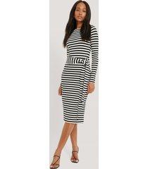 na-kd striped jersey dress - black,white