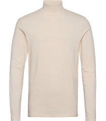 apollo high neck ls t-shirt t-shirts long-sleeved crème les deux