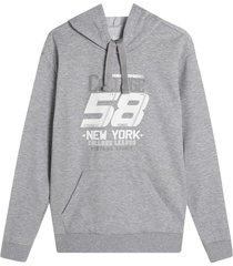 hoodie hombre 58 new york color gris, tallal