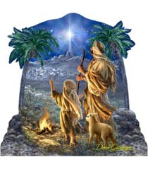 designocracy by dona gelsinger shepherds keeping watch ornament, set of 2