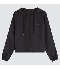 chaqueta mujer rompevientos capota