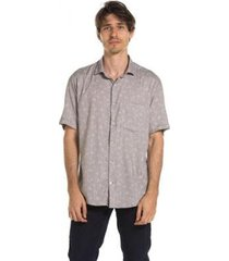 camisa true you brasil manga curta summer leaves sorrell brown - masculino