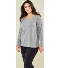 basic shirt janet & joyce grijs