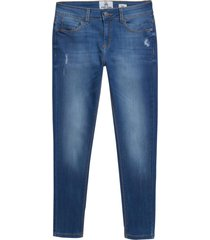 calça john john midi skinny efeso jeans azul feminina (medium jeans, 50)