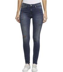 ckj 001 mid rise super skinny jean azul calvin klein