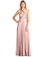 kainy women's long convertible maxi infinity spandex bridesmaid dress pink