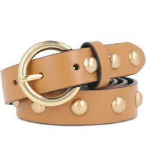 rebecca minkoff women's dome-studded 25mm leather belt