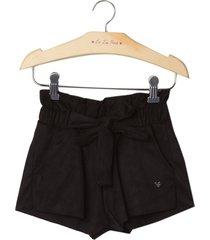 shorts le lis petit suede preto feminino (preto, 11)