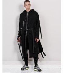 bluza long belts black