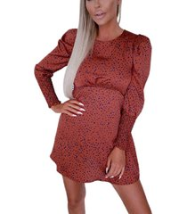 ax paris spotty skater puff sleeve dress