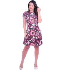 vestido miss lady rosas marsala