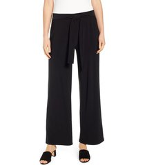 women's chaus patricia tie waist pants, size large - black