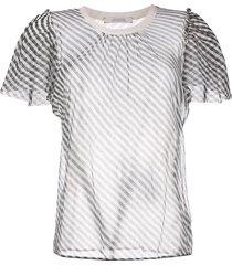 dorothee schumacher sheer t-shirt blouse - black