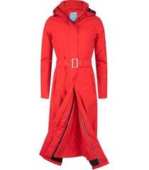 happyrainydays regenjas long raincoat padded rosa red-xs
