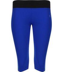 leggings deportivo corto con pretina color azul, talla xs
