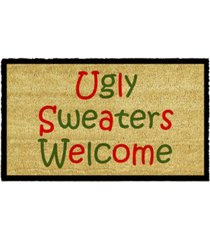 "ugly sweaters 17"" x 29"" coir/vinyl doormat bedding"
