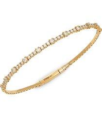 effy women's 14k yellow gold & diamond bangle bracelet