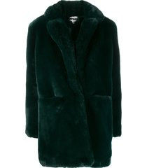 apparis sophie mid-length coat - green