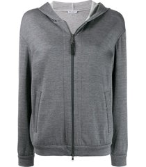 brunello cucinelli jersey hoodie - grey