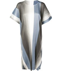 pleats please issey miyake micro pleated dress - blue