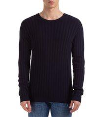 maglione maglia uomo girocollo slim fit