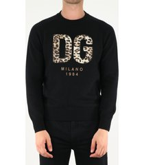dolce & gabbana black sweater with dg patch
