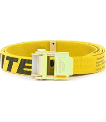 off-white mini 2.0 industrial buckle belt - yellow