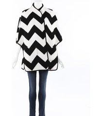 akris punto chevron wool cashmere cape