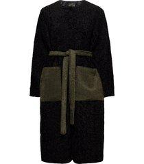matty, 945 faux fur outerwear faux fur zwart stine goya