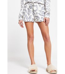 river island womens cream leopard print pyjama shorts