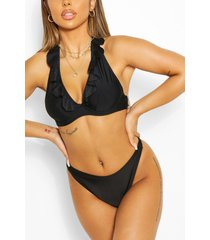 mix & match none padded fuller bust top, black