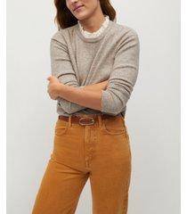 mango women's shirt knit sweater