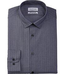calvin klein infinite modern fit dress shirt navy stripe