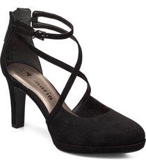 woms slip-on shoes heels pumps classic svart tamaris