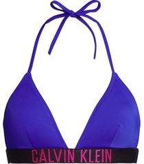 calvin klein triangle bikini top - blauw