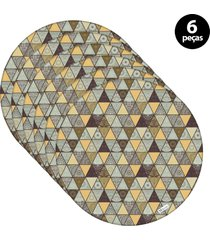 capa para sousplat mdecore abstrato colorido 6pã§s - verde - dafiti