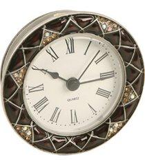relógio de mesa decorativo de metal com strass i