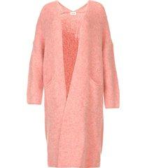 gebreid oversized vest east  roze