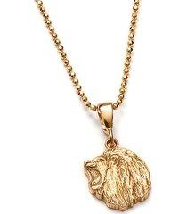 lew mini wisiorek ze złoconego srebra