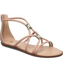 pozoa shoes summer shoes flat sandals beige aldo